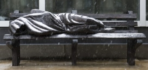 "Image Credit: ""Homeless Jesus"" by: Timothy Schmalz"